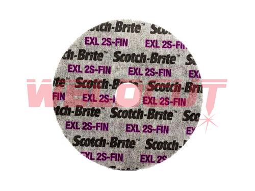 Scotch-brite wheel 3M XL-UW 2S FIN 125mm x 6mm